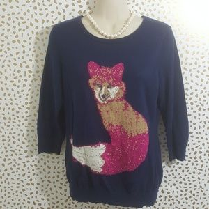 Cynthia Rowley Pink Fox Sweater Size Medium